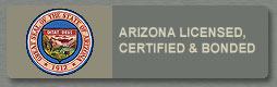 Arizona licensed, bonded, and certified